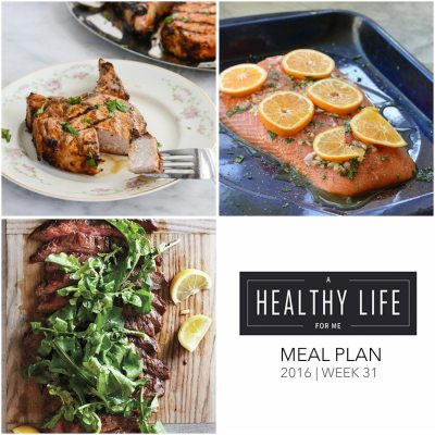 Weekly Meal Plan Week 31