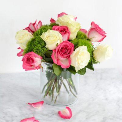 Simple DIY Rose Centerpieces