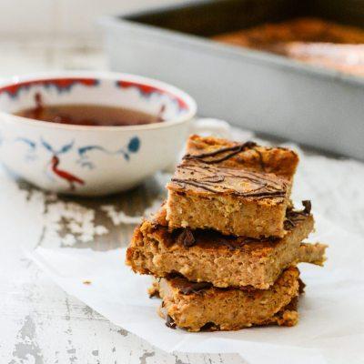 Protein Pumpkin Breakfast Cake {gluten free + vegetarian}