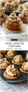 Each little cake is filled with apple pie filling, topped with honey butter frosting and a drizzle of caramel sauce | ahealthylifeforme.com