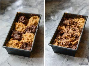 Paleo Pumpkin Banana Chocolate Swirl Bread is gluten free lightened up recipe | ahealthylifeforme.com