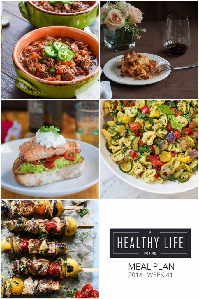 Weekly Meal Plan Week 41   ahealthylifeforme.com