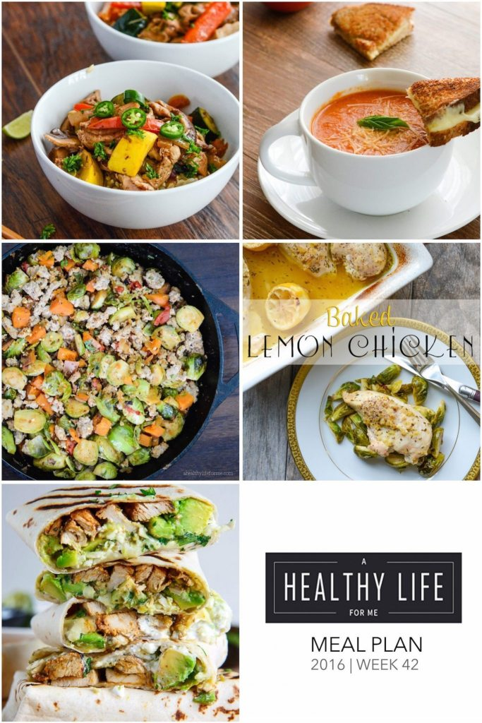 Healthy Weekly Meal Plan for the whole family   ahealthylifeforme.com