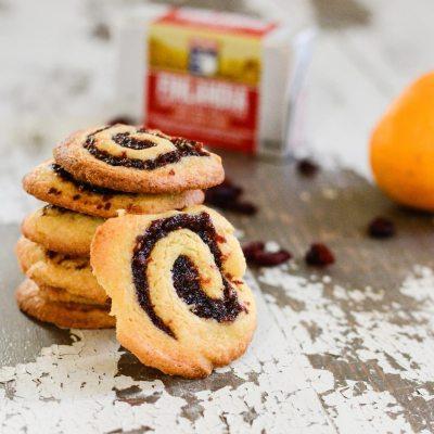 Cranberry Raspberry Pinwheel Cookies {gluten free + vegetarian}