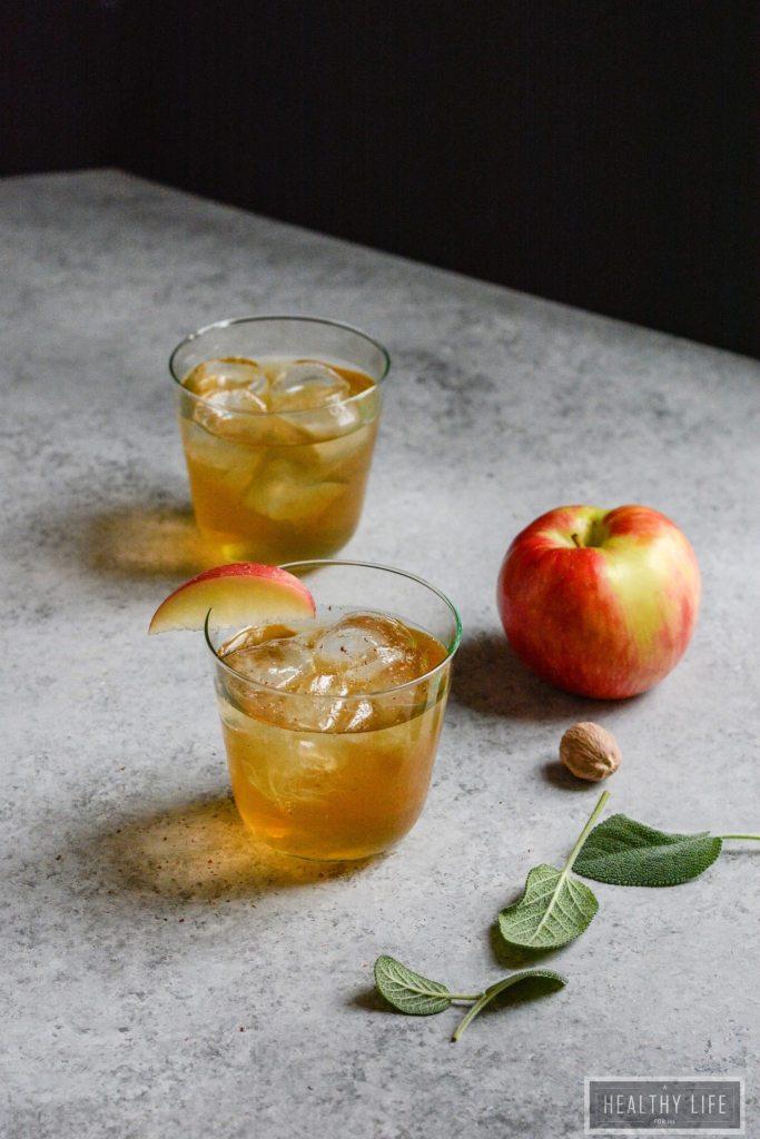 Fizzy Apple Cider Mocktail Recipe | ahealthylifeforme.com