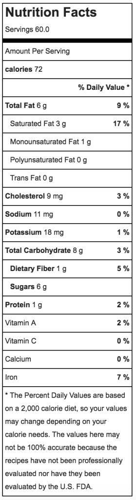 Gluten Free Chocolate Mint Candy Cane Cookie Nutritional Information   ahealthylifeforme.com