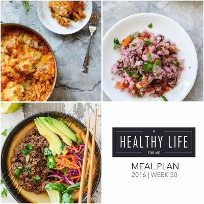 Weekly Meal Plan Week 50