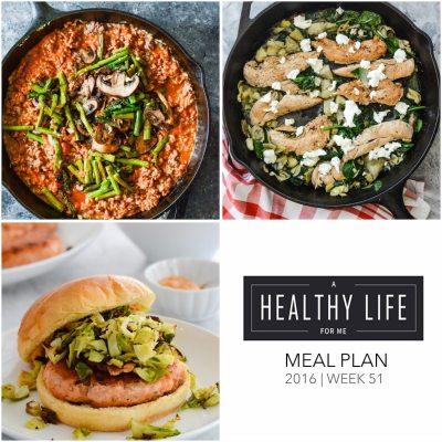 Weekly Meal Plan Week 51