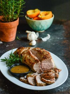 Orange Rosemary Roasted Pork Tenderloin {paleo + whole30}