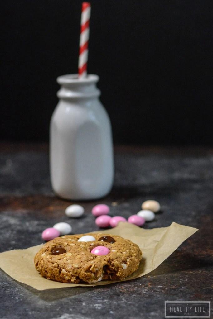 Oatmeal Chocolate Cheesecake M&M Cookie Recipe   ahalthylifeforme.com
