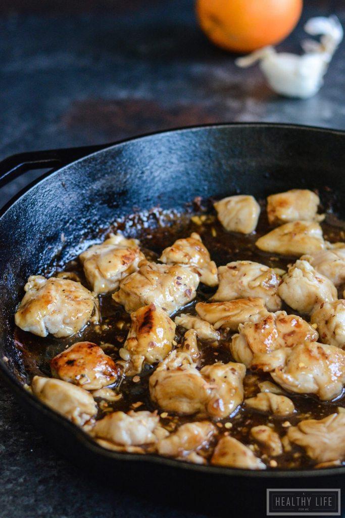 Paleo Orange Chicken One Pot Under 30 minute Recipe | ahealthylifeforme.com
