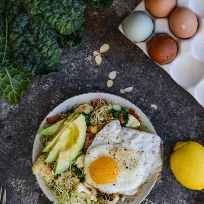 Paleo Cauliflower Avocado Egg Bowl