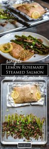 Simple Lemon Rosemary Steamed Salmon ready for you recipe   ahealthylifeforme.com