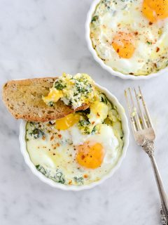 Baked Egg Ricotta Thyme Cups