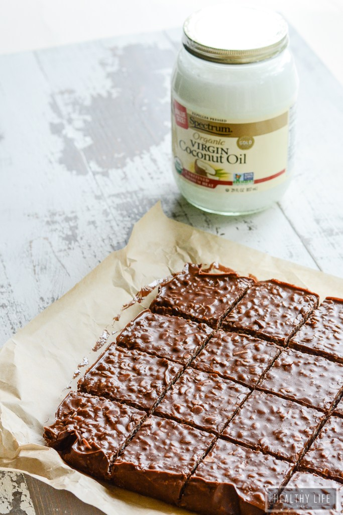 No Bake Peanut Butter Chocolate Coconut Bars | ahealthylifeforme.com