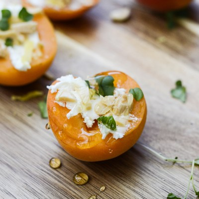 Apricots with Goat Cheese and Almond