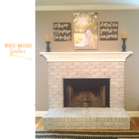 our fireplace is white-washed!