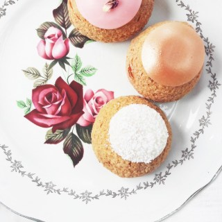 Popelini Paris. Perfect dessert choux, rose & raspberry, apple tatin & tapioca. Lovely with coffee or tea. | ahedgehoginthekitchen.com