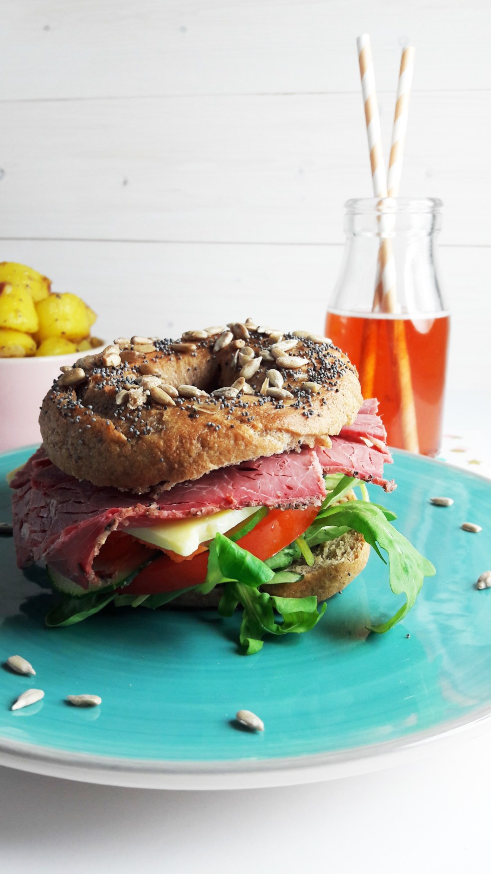 two seed wholewheat bagels