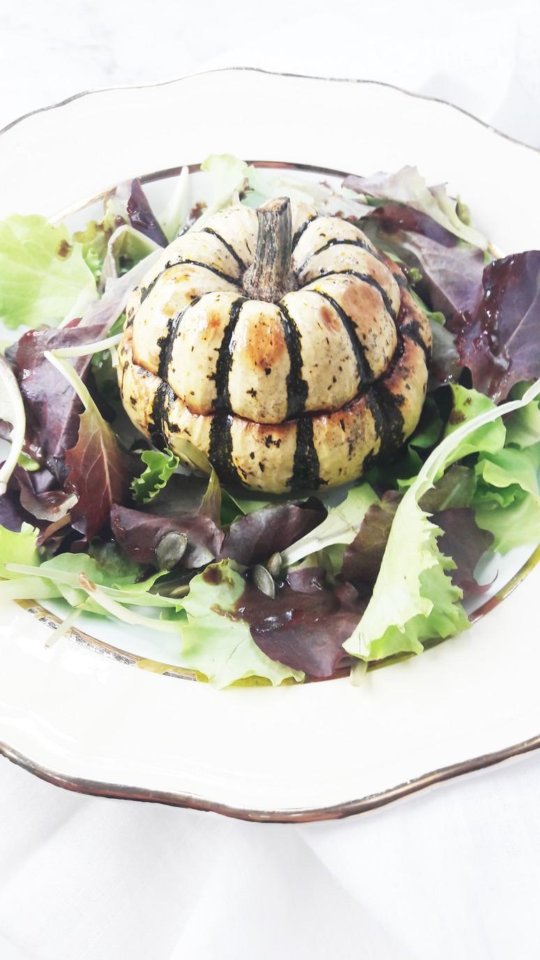 Sweet dumpling mini squash + raclette cheese. | ahedgehoginthekitchen.com.