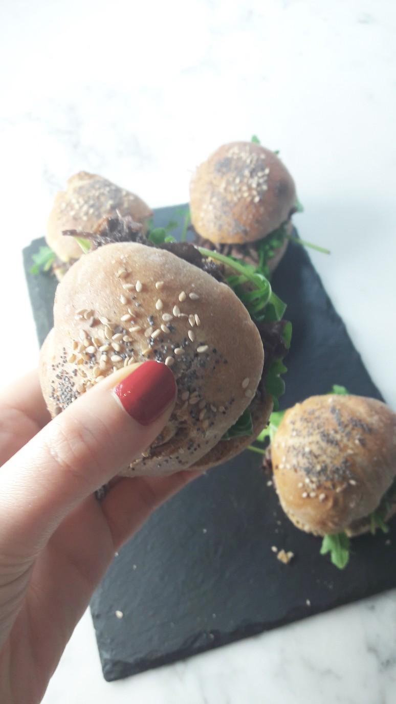 Mini boeuf bourguignon burgers. | ahedgehoginthekitchen.com