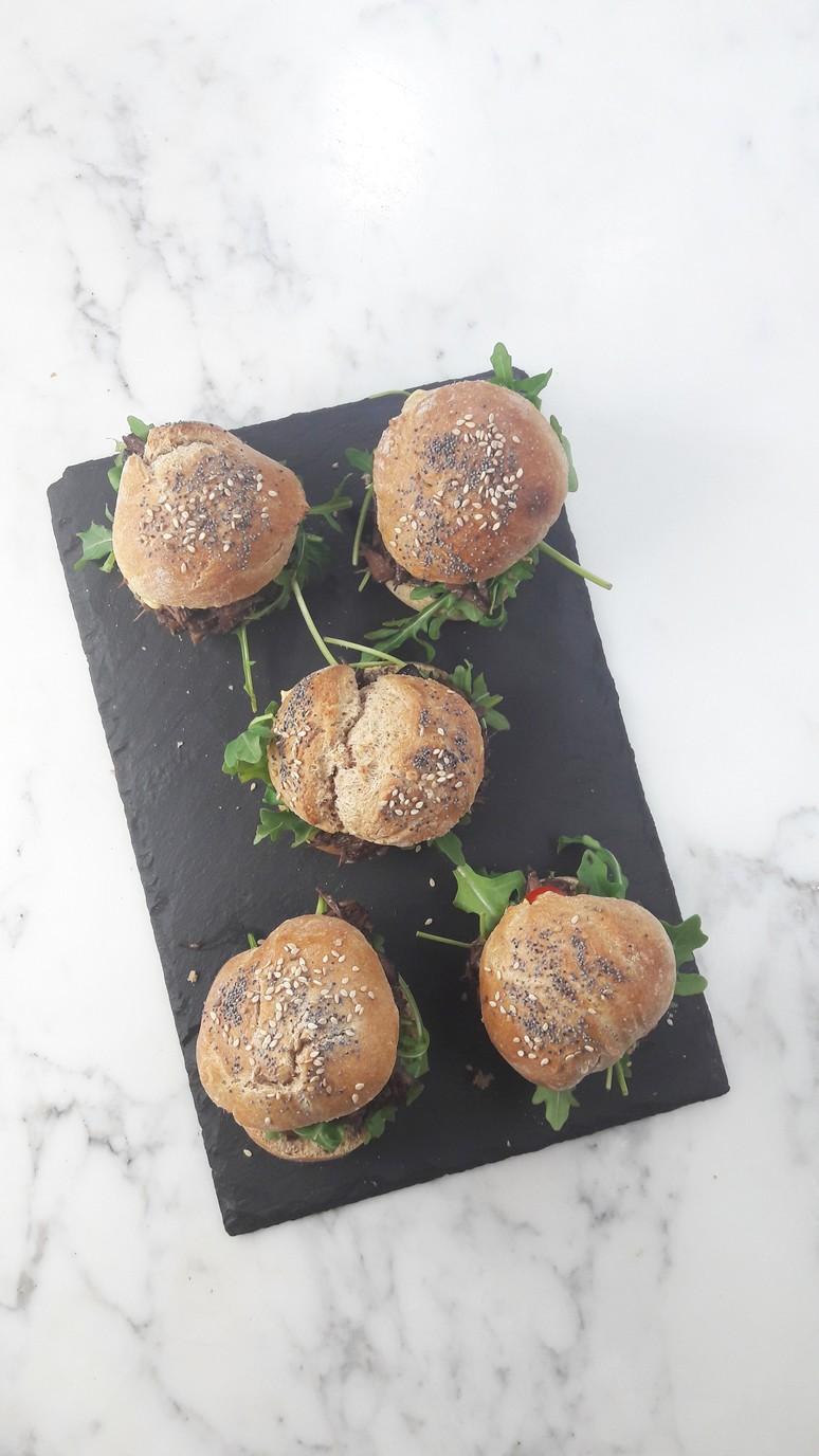 Boeuf Bourguignon Mini Burgers. | ahedgehoginthekitchen.com