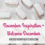 November inspiration + welcome December