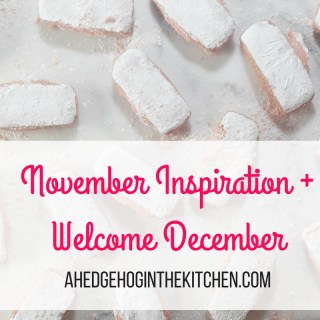 November inspiration + welcome December