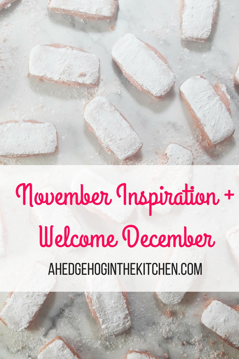 November inspiration & Hello December! (Pink biscuits, Marché d'Aligre & cannelés) | ahedgehoginthekitchen.com