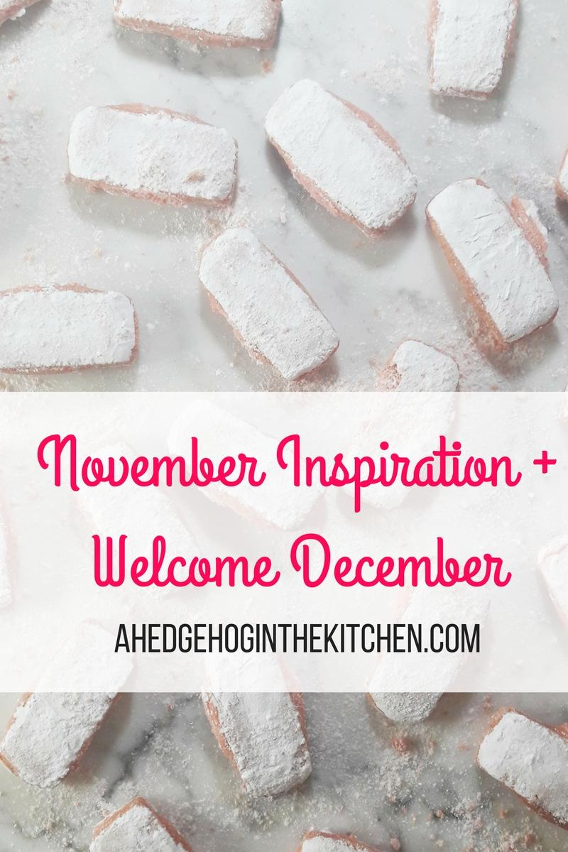 November inspiration & Hello December! (Pink biscuits, Marché d'Aligre & cannelés) | ahedgehoginthekitchen.com