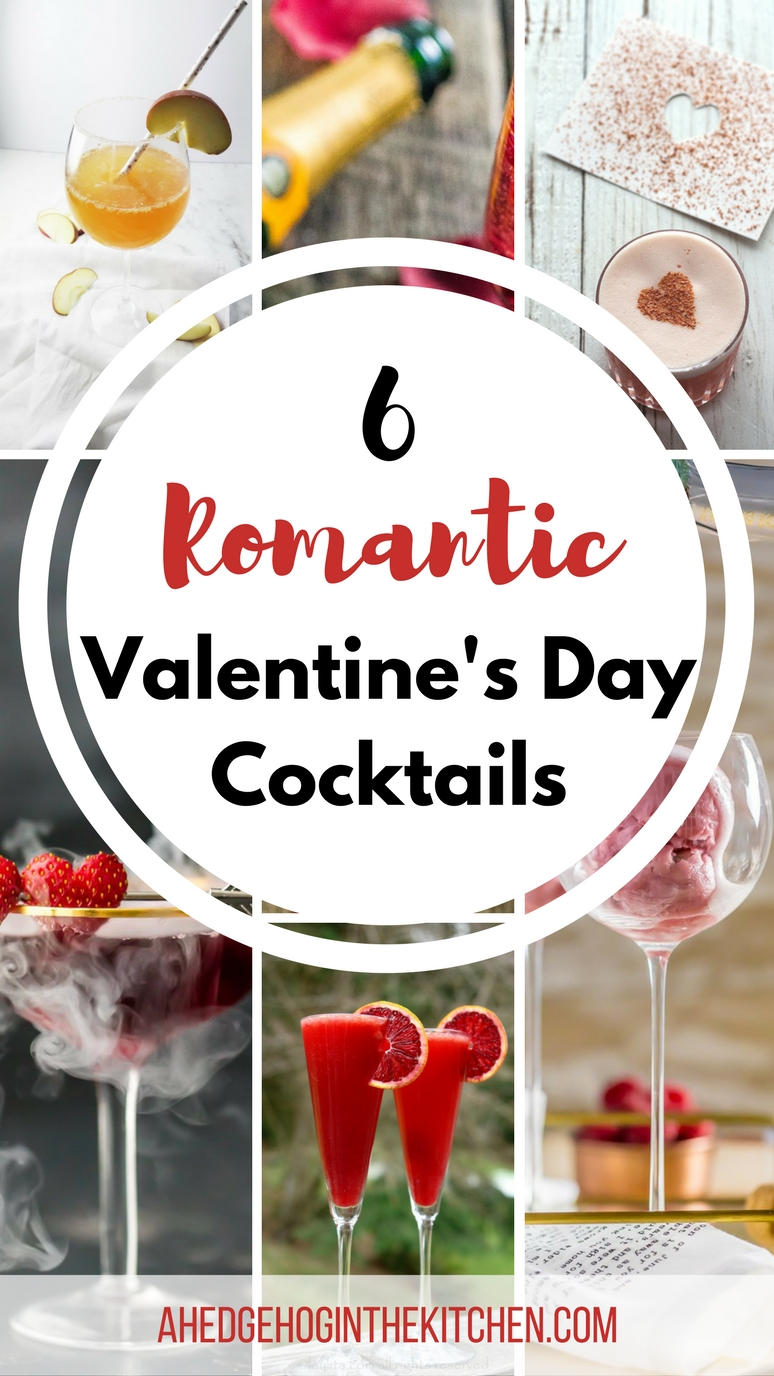6 Romantic Valentine's Day Cocktails by A Hedgehog in the Kitchen