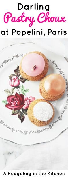Popelini Paris. Perfect dessert choux, rose & raspberry, apple tatin & tapioca. Lovely with coffee or tea.   ahedgehoginthekitchen.com