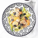 Japanese scallops with leeks and miso