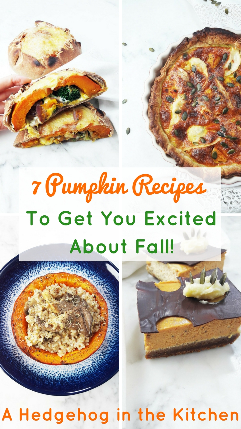 These 7 pumpkin recipes will have you dreaming about cinnamon, falling leaves, chunky knit sweaters and a world of hygge in no time!