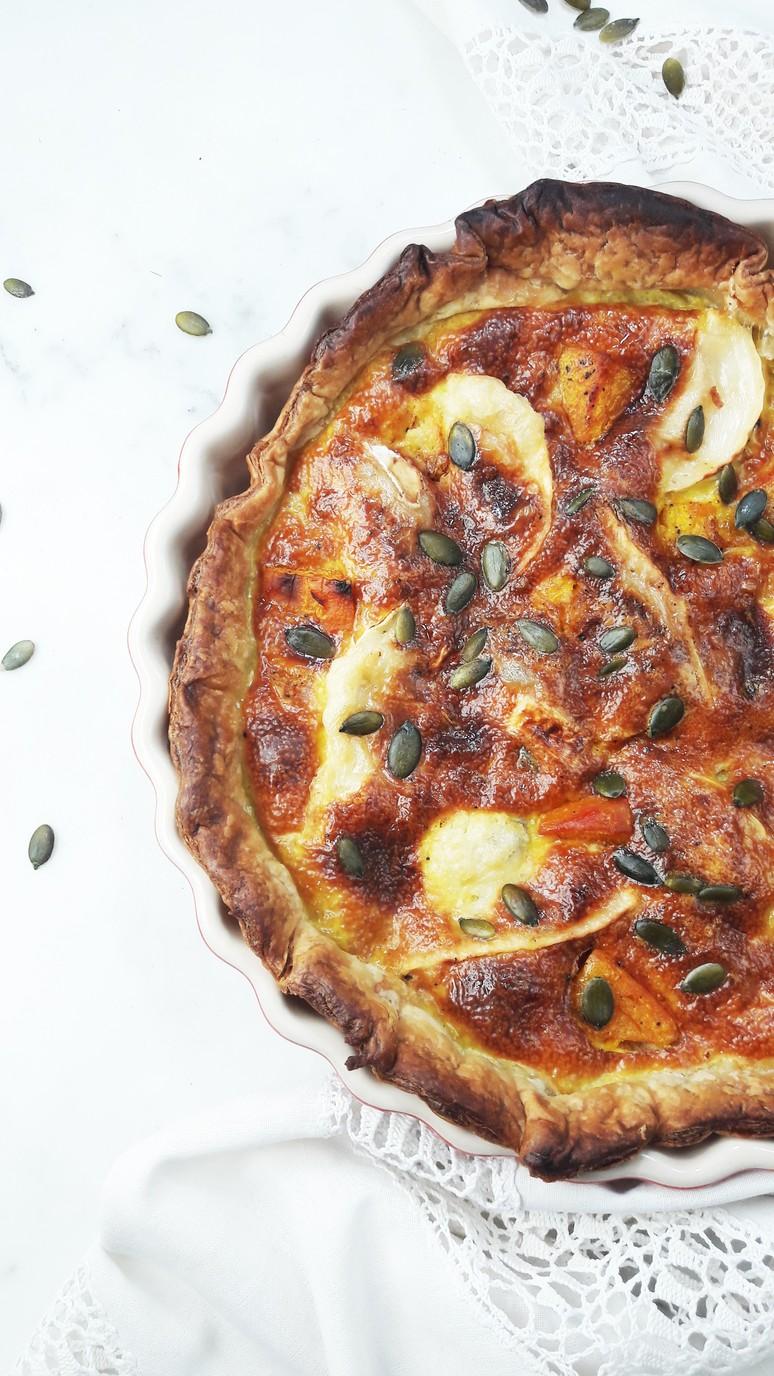 7 Pumpkin Recipes for Fall. Pumpkin Goat Cheese Quiche.   ahedgehoginthekitchen.com