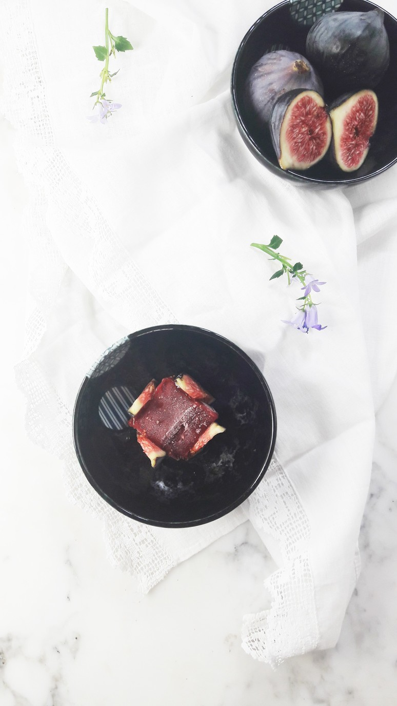 Heavenly fig sorbet. One of our favorite ways to use up all those gorgeous figs during fig season. Eat on it's own or add a scoop to your favorite dessert! | ahedgehoginthekitchen.com