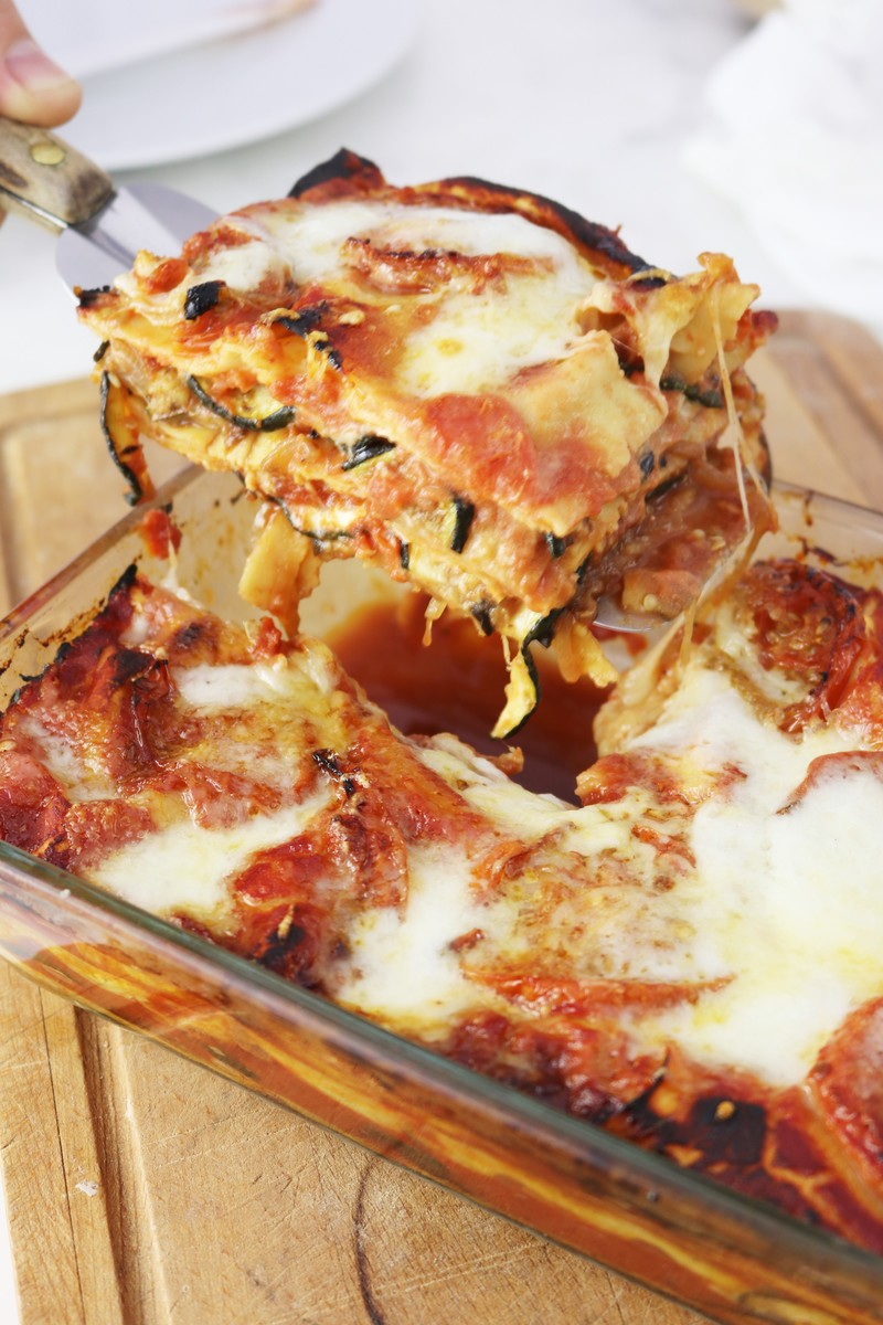 Roasted Eggplant Lasagna | ahedgehoginthekitchen.com