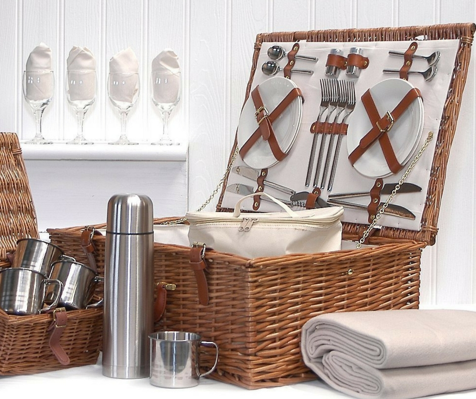 Gift Guide from Our Parisian Home. Romantic Picnic Basket. | ahedgehoginthekitchen.com