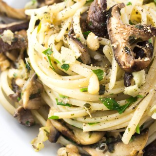 Three Mushroom Pasta Recipe #pastarecipe #mushroomrecipe - ahedgehoginthekitchen.com