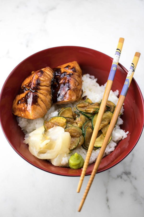 Japanese Salmon Rice Bowl A Hedgehog In The Kitchen