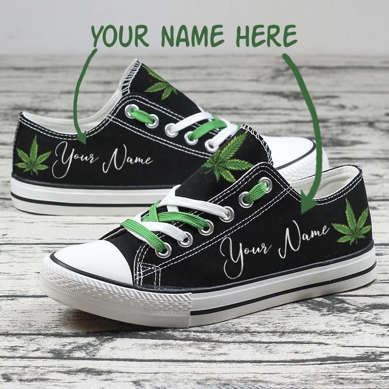 Weed SHOES Personalized Your Name