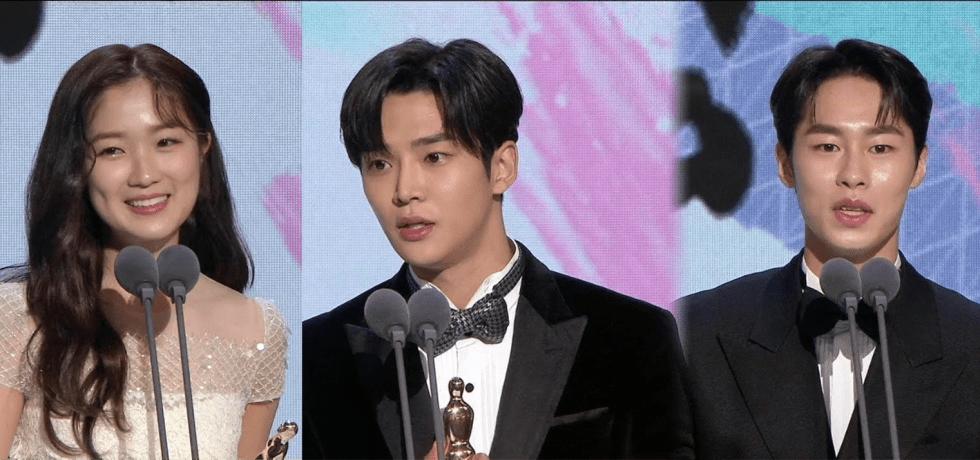 Kim Hye Yoon, Rowoon and Lee Jae Wook at MBC Drama Awards 2019.