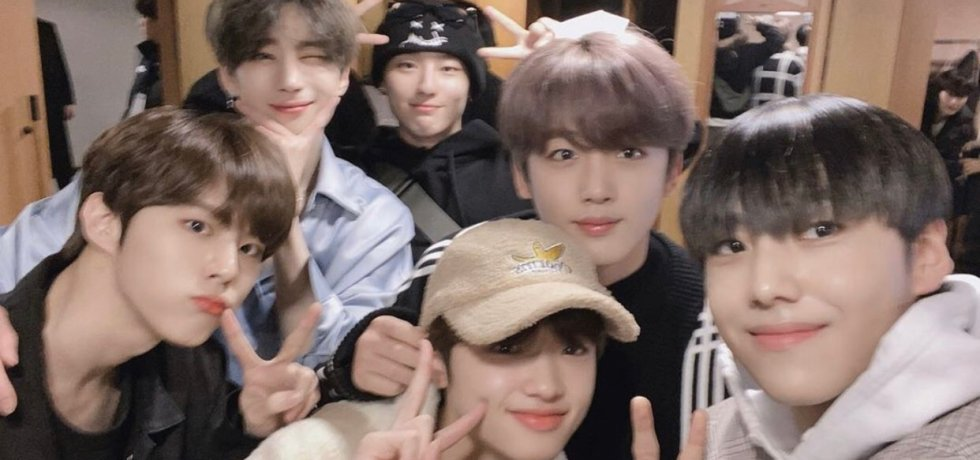 Seungwoo's fan meet. half of X1 members showed up