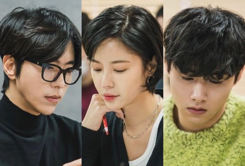 Yoon Hyun Min, Hwang Jung Eum, Seo Ji Hoon at the script reading for That Man is That Man.