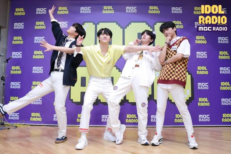 OUI Boys posing 'Mischievous boys'. Kim Yohan, Kim Donghan, Jang Dae Hyeon and Kang Seok Hwa.
