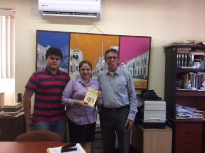 Visita de la Periodista Maria Luisa Mercado al Archivo