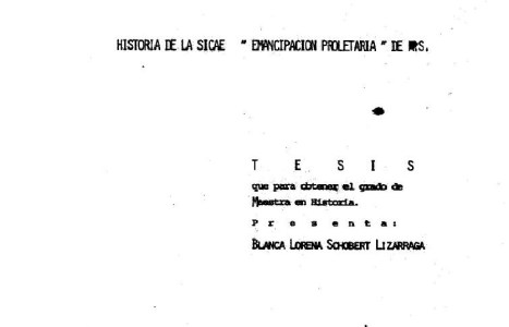 """Historia de la SICAE. """"Emancipación proletaria"""". (Tesis)"""