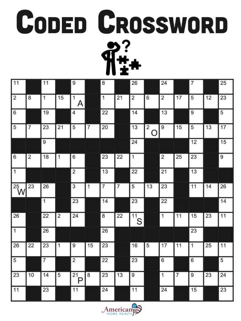 Coded CrossWord - Vaccine Safety