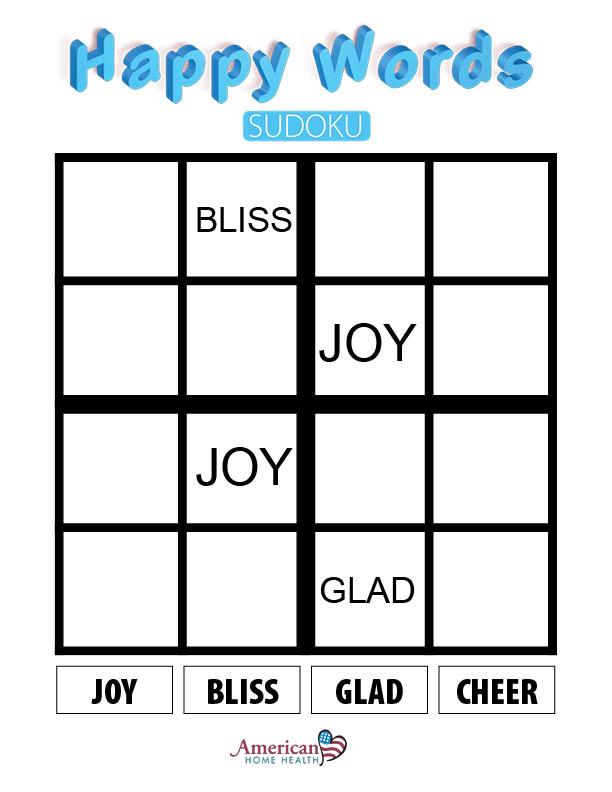 Happy Words - Sudoku - Easy