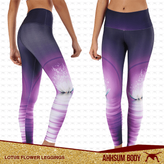 Lotus Flower Leggings #ABALFLEG
